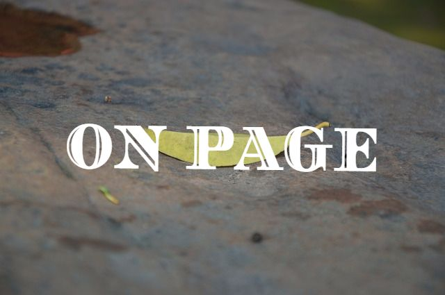 on page