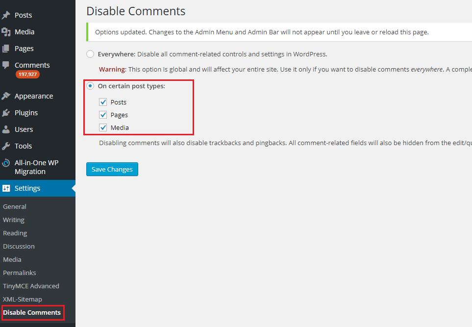 plugin off comment